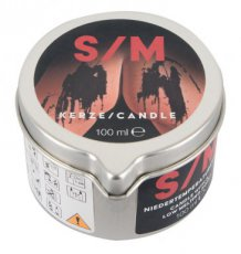 S/M Candle in a Tin Black